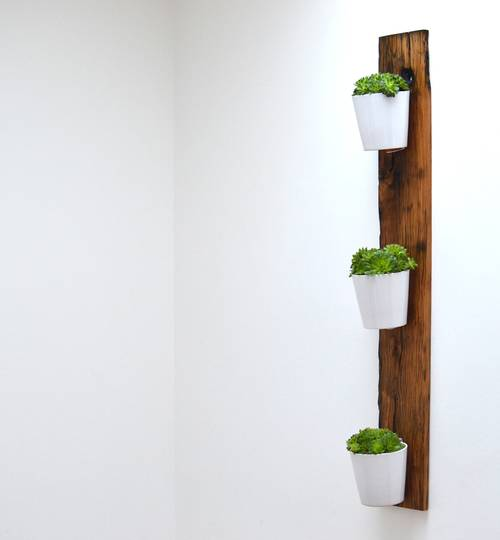 Reclaimed Oak Vertical Wall Planter