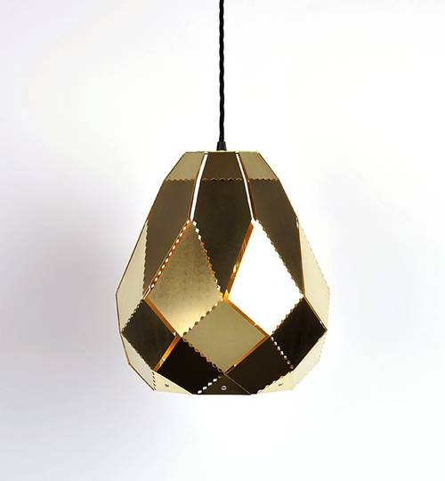 Brass Pear Moroccan Lamp