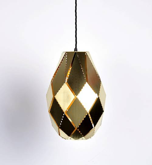 Brass Plume Moroccan Lamp
