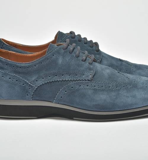Borwick Suede Velvet Blue Brogues