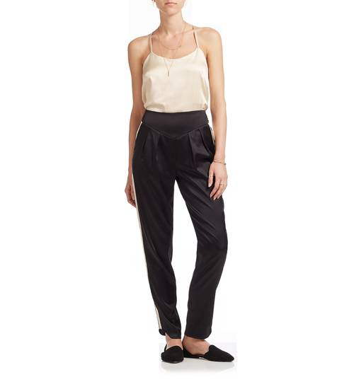 Roxy Estella Oyster Silk Trousers