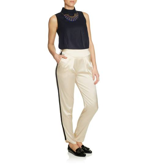 Roxy Estella Pearl Silk Trousers