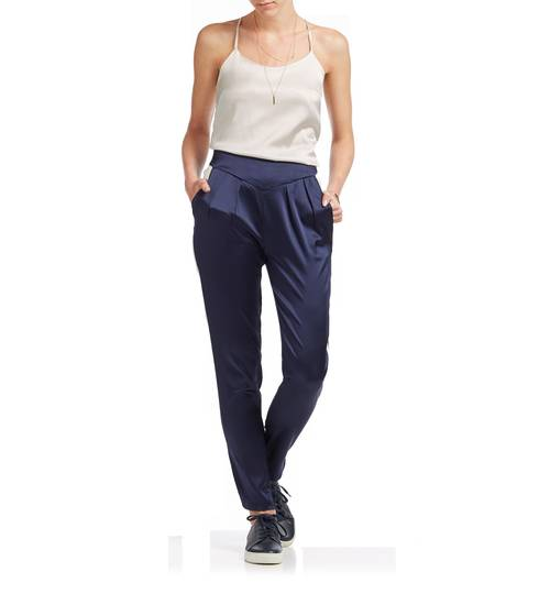 Roxy Estella Midnight Silk Trousers