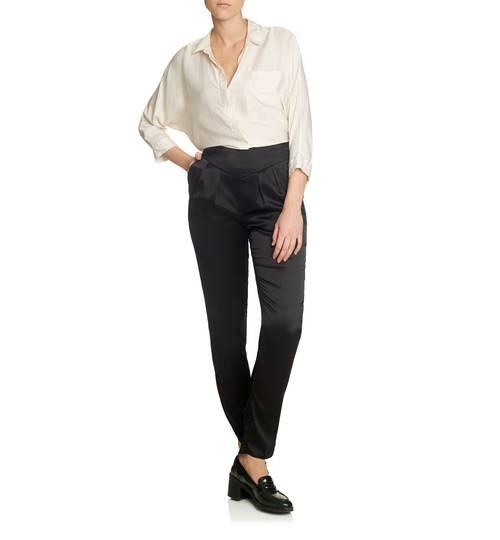 Estella Ebony Silk Trousers