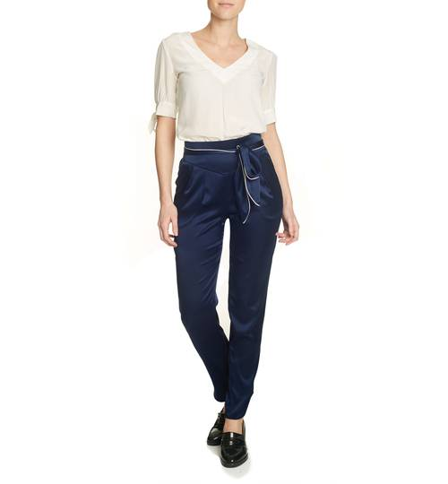 Allegra Midnight Silk Trousers