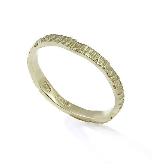 9 Carat Gold Bark Ring