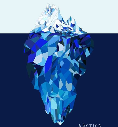 ICE MOUNTAIN - Art Print