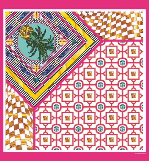 ANANAS ROSE Silk Scarf