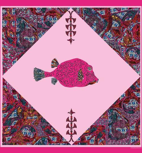 FISH Scarf - Pink