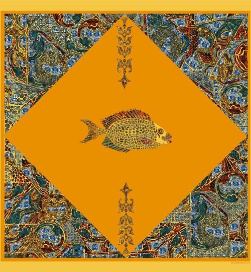 FISH Scarf - Yellow
