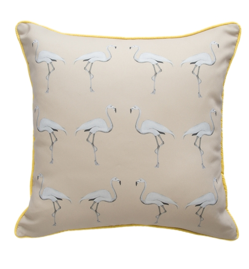 Flamingo Cushion - Dusted Stone