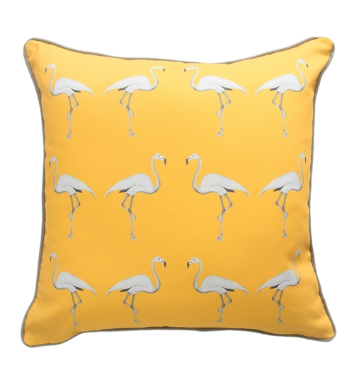 Flamingo Cushion - Mustard Sun