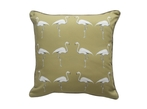 Flamingo Cushion - Olive