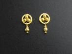 22ct Gold Trefoil and Bead Earrings