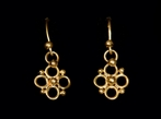 Delicate 22ct Gold Quatrefoil Earrings