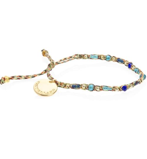 Wayuu Social Impact Bracelet -GoldBlue