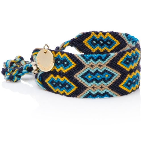 Wayuu Good Vibes Bracelet -  Blue