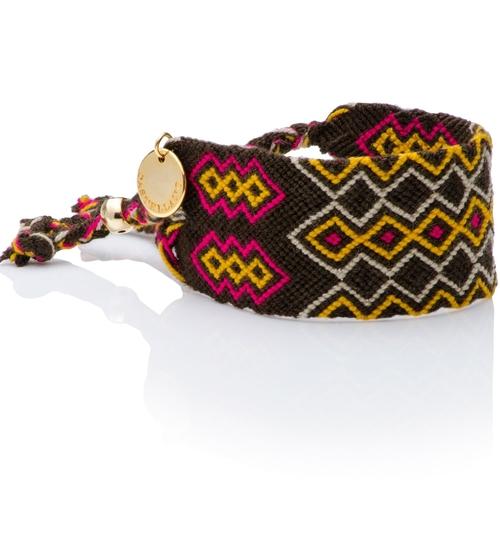 Wayuu Good Vibes Bracelet - Dark