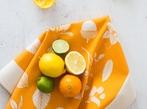 Hand Screen Printed Tea Towel - Orange
