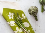 Hand Screen Printed Tea Towel - Green