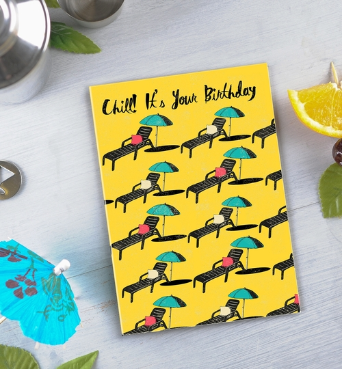 Sunbeds Birthday Card