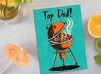 Top Dad Birthday Card