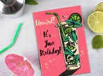 Mojito Cocktail Birthday Card
