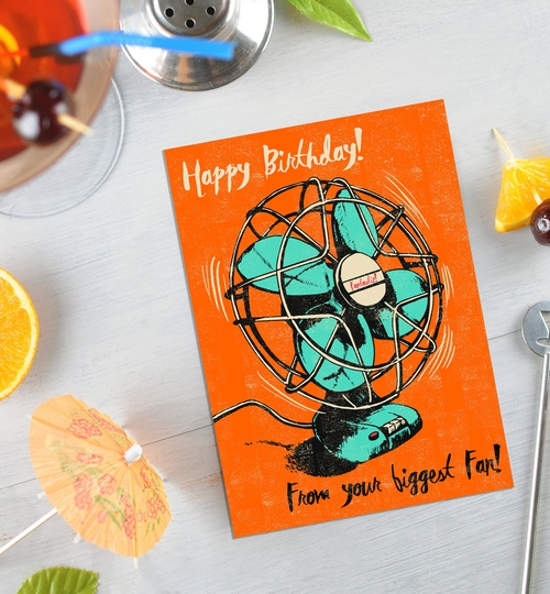 Your Biggest Fan Birthday Card