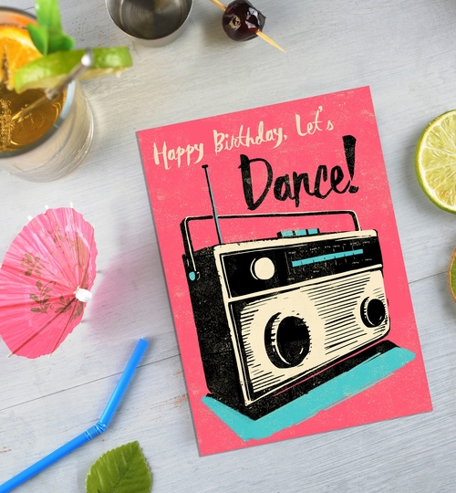 Let's Dance Birthday Card