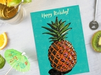 Pineapple Happy Birthday Card