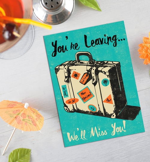 We'll Miss You Leaving Card
