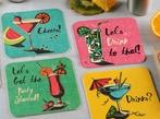 Set of 8 Coaster Party Invitations