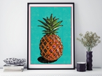 A3 Pineapple Art Print