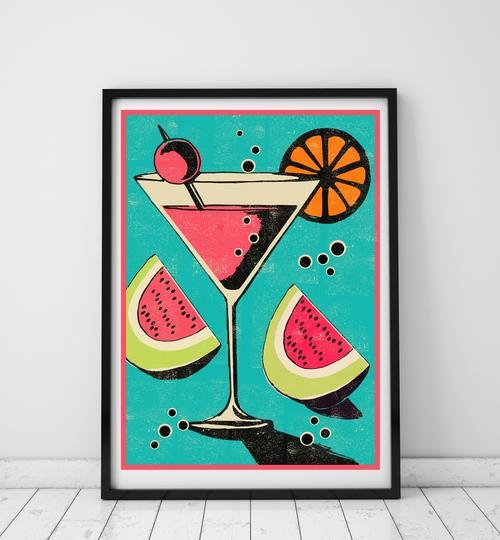 A3 Martini Art Print