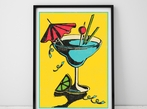 A3 Miami Cocktail Art Print