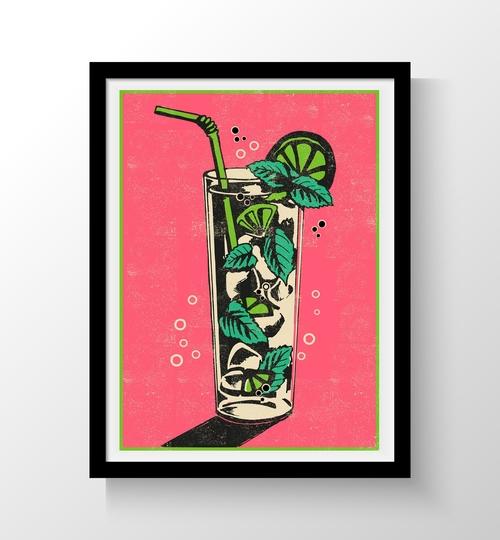 A3 Mojito Art Print