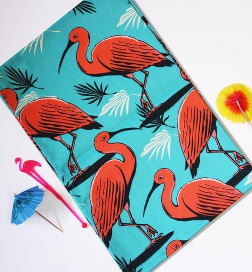 Scarlet Ibis Tea Towel