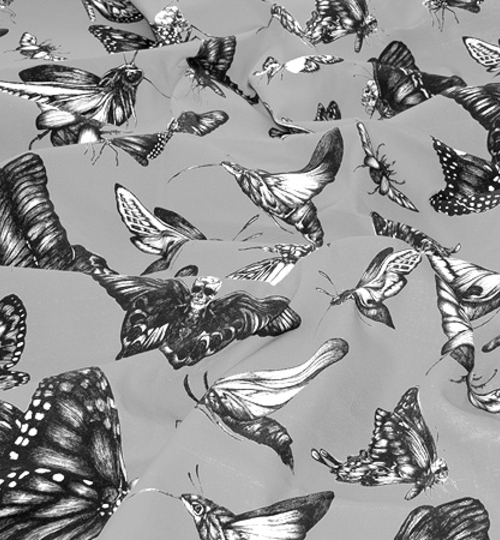 """Swarm Evolution Grey"" Fabric"
