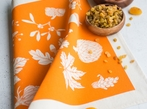 Set Of 4 Napkins - Orange