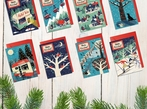 8 Nordic Style Christmas Cards
