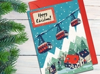 Cable Cars Christmas Card