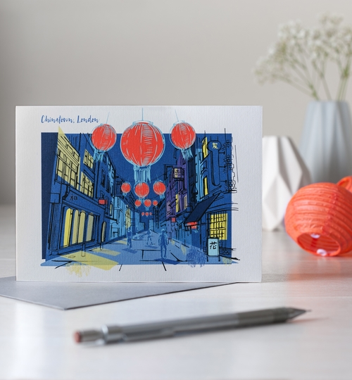 Chinatown, London Greetings Card