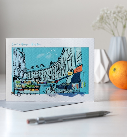 Brixton, London Greetings Card