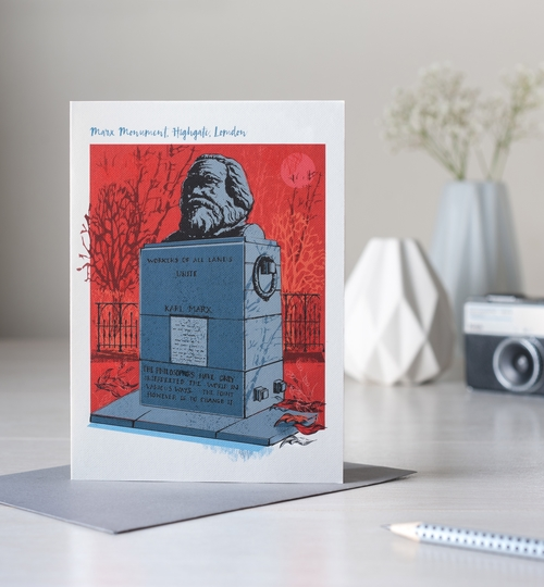 Marx Monument, London Greetings Card