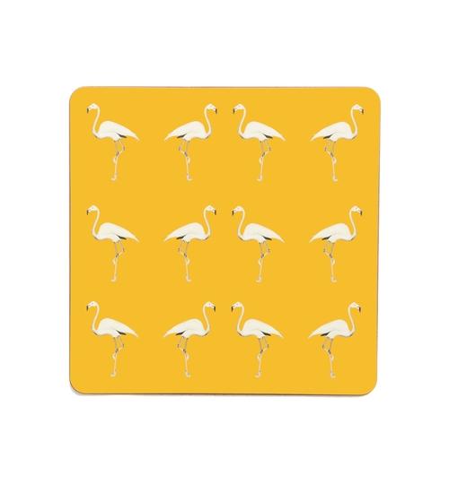 Flamingo Placemats - Mustard Sun