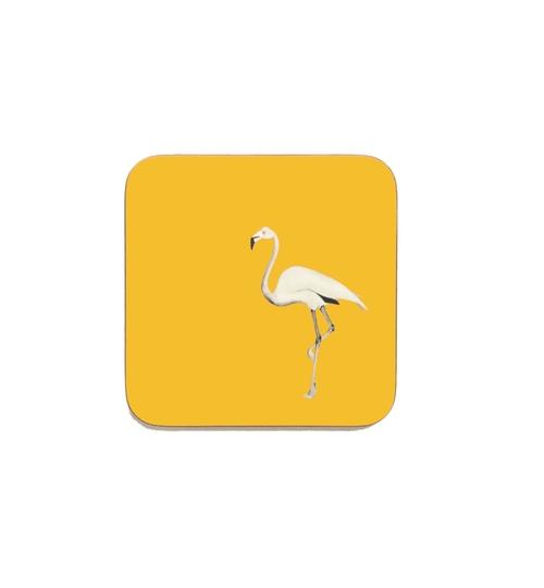 Flamingo Coasters - Mustard Sun