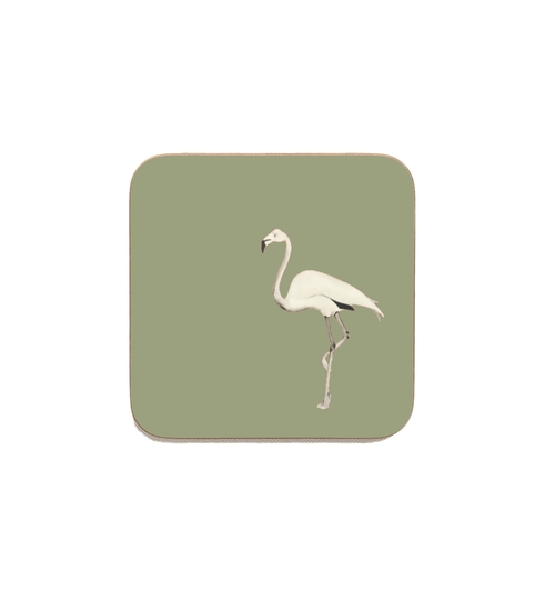 Flamingo Coasters - Olive