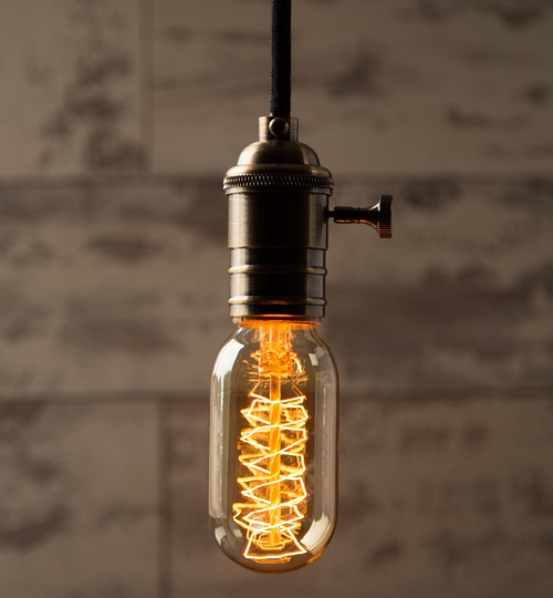 Vintage Style Light Bulb: Mini Tube