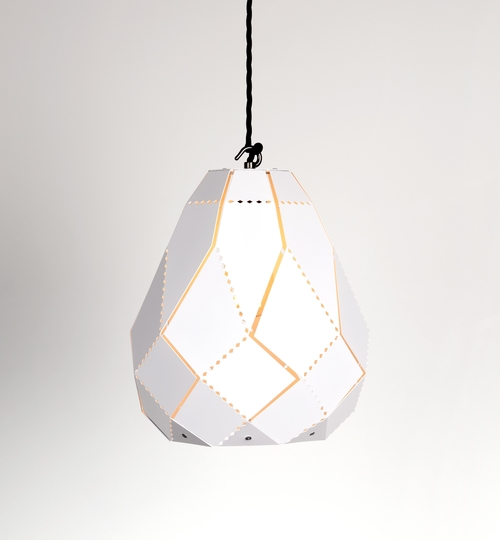 Pear Powder Coated Moroccan Lamp