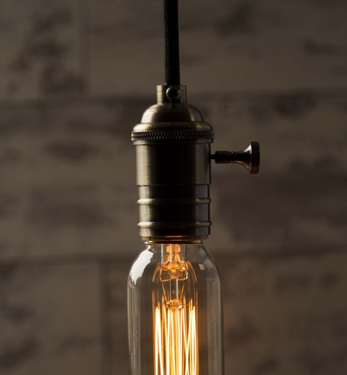 Vintage Light Bulb: Mini Tube SQ Cage